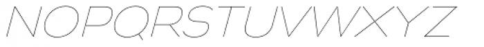 Biondi Sans UltraLight Italic Font LOWERCASE