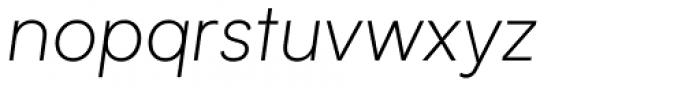 Biotif Light Italic Font LOWERCASE