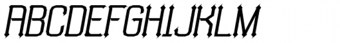 Bipolar Oblique Font UPPERCASE