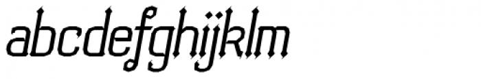 Bipolar Oblique Font LOWERCASE