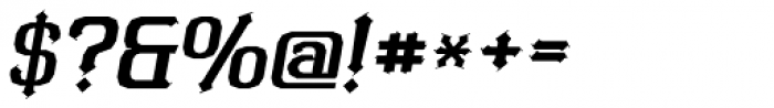 Bipolar Poster Oblique Font OTHER CHARS