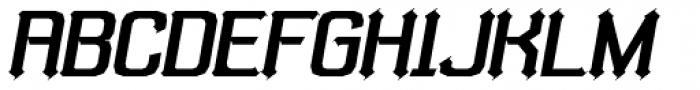 Bipolar Poster Oblique Font UPPERCASE
