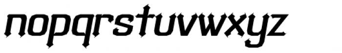 Bipolar Poster Oblique Font LOWERCASE