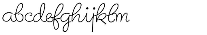 Birthday Font LOWERCASE