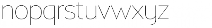 Biscayne Thin Font LOWERCASE