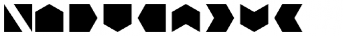 Bismuth Symbols Font UPPERCASE