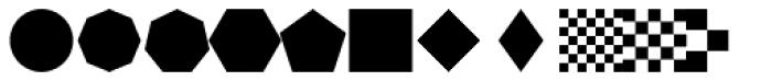 Bismuth Symbols Font LOWERCASE