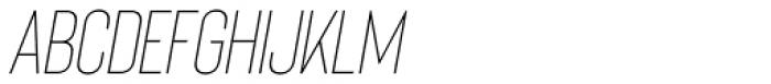 Bison Light Italic Font LOWERCASE