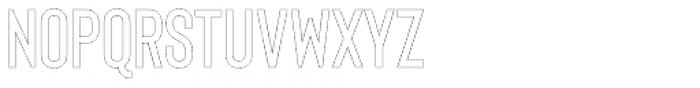 Bison Thin Outline Font UPPERCASE