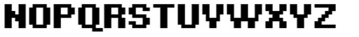 Bitblox Embiggened Font UPPERCASE