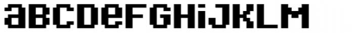Bitblox Embiggened Font LOWERCASE