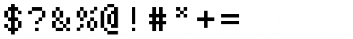 Bitblox Monospaced Font OTHER CHARS