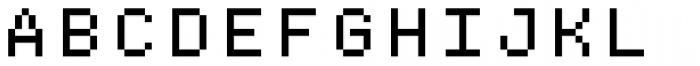 Bitblox Stackable Font UPPERCASE