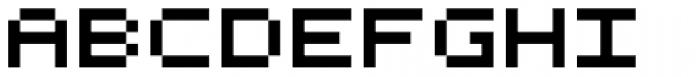 Bitrux B AOE Font UPPERCASE