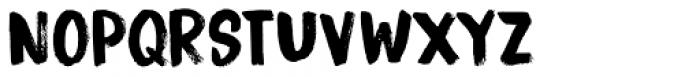 Bitterbrush Font UPPERCASE