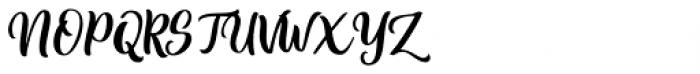 Bittergrace Script Regular Font UPPERCASE