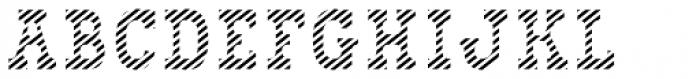 Bixa Stripe Font UPPERCASE