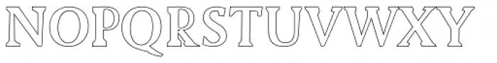 Biza Outline Font UPPERCASE