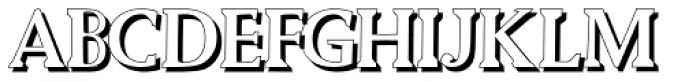 Biza Shadow Font UPPERCASE