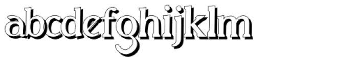 Biza Shadow Font LOWERCASE
