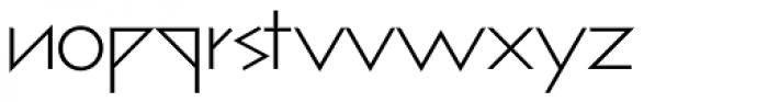 bill display lowercase Light Font LOWERCASE