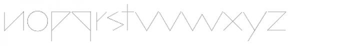 bill display lowercase Six Font LOWERCASE