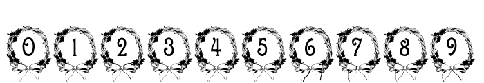 BJF Christmas Wreath Font OTHER CHARS
