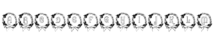 BJF Christmas Wreath Font LOWERCASE