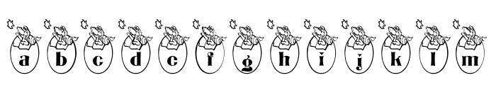 BJF Dragons Font LOWERCASE