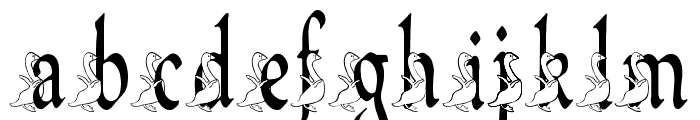 BJF Ugly Duckling Font LOWERCASE