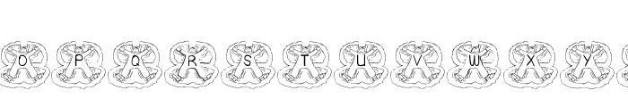 BJF Xmas Angels AH Font UPPERCASE