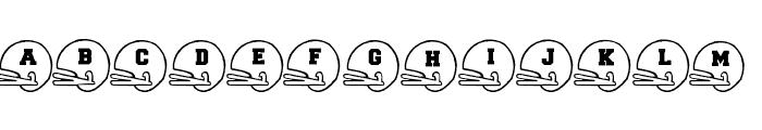 BJFootball Font UPPERCASE