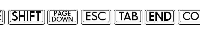 BKCap Regular Font LOWERCASE