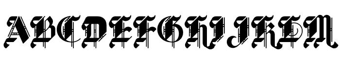BLKLTR Fill Font UPPERCASE
