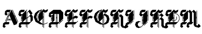 BLKLTR Fill Font LOWERCASE