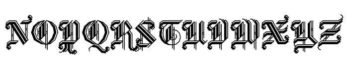 BLKLTR Shaded Font LOWERCASE