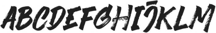 Black Finger otf (900) Font LOWERCASE