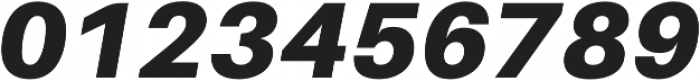 Black Italic otf (900) Font OTHER CHARS
