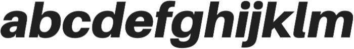 Black Italic otf (900) Font LOWERCASE