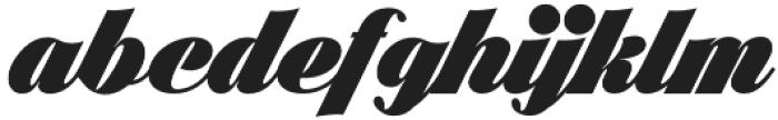 Black Larch otf (900) Font LOWERCASE