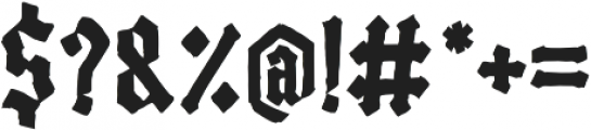 Black Madness otf (900) Font OTHER CHARS