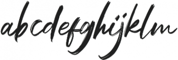 Black Mountage Regular otf (900) Font LOWERCASE