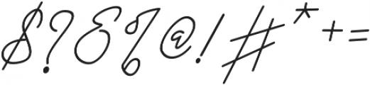 Black Pink Signature otf (900) Font OTHER CHARS
