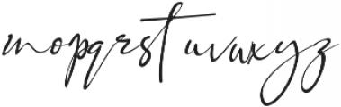 Black Pink Signature otf (900) Font LOWERCASE