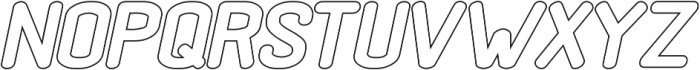 Black Rovers Hollow Bold Italic otf (700) Font UPPERCASE
