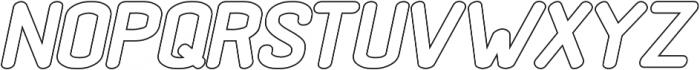 Black Rovers Hollow Bold Italic otf (700) Font LOWERCASE