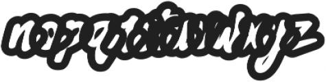 Black Street Outline ttf (900) Font LOWERCASE