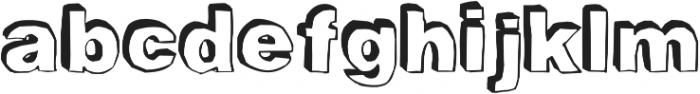 BlackDogBack otf (900) Font LOWERCASE