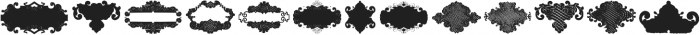 BlackOrnaments Regular ttf (900) Font UPPERCASE