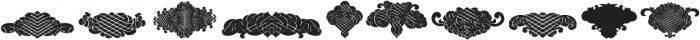 BlackOrnaments Regular ttf (900) Font LOWERCASE